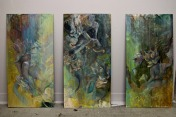 """""""The Lotus"""". Oil on Masonite Boards. >next images"""
