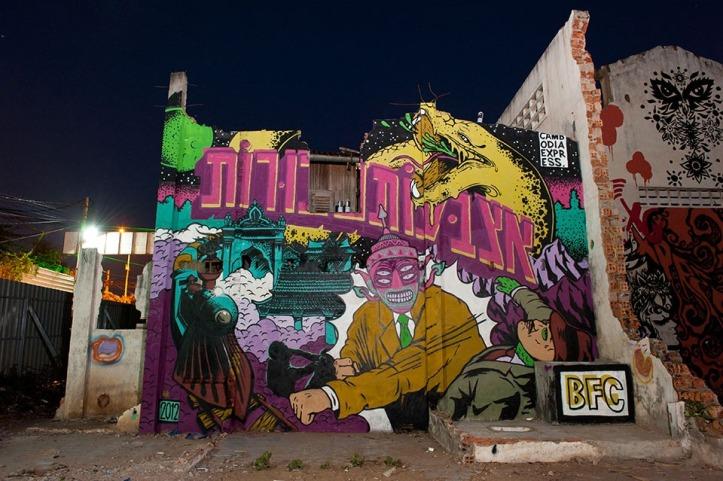 the passenger times -street art -Cambodia-Reloaded-Wall-Graffiti-Tiger-Translate2
