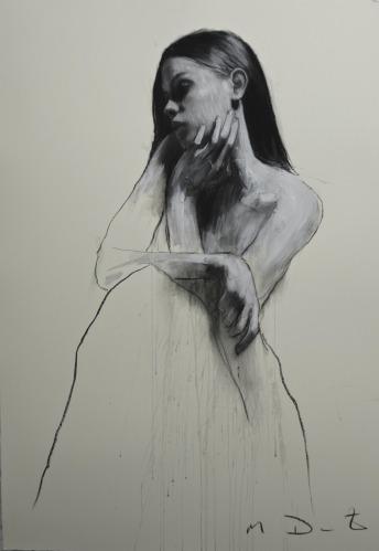 Mark Demsteader drawings -BStudy for flow, pastel & collage øTheP 11
