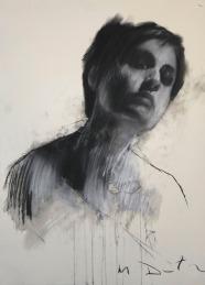 Mark Demsteader drawings -Erin 2, pastel & collage øTheP 09