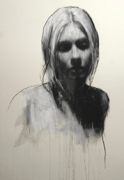 Mark Demsteader drawings -Sam, pastel & collage øTheP 05