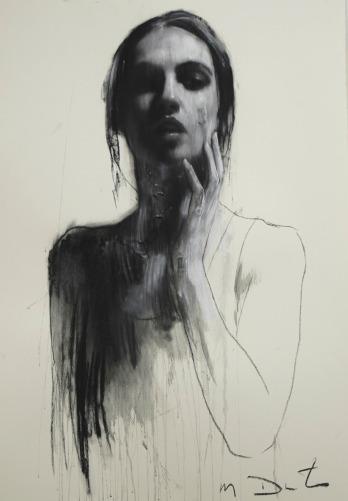 Mark Demsteader drawings -study for siren, pastel & collage øTheP 12