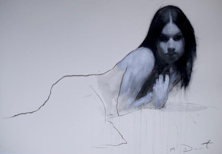 Mark Demsteader drawings -study for wilderness, pastel & collage øTheP 13