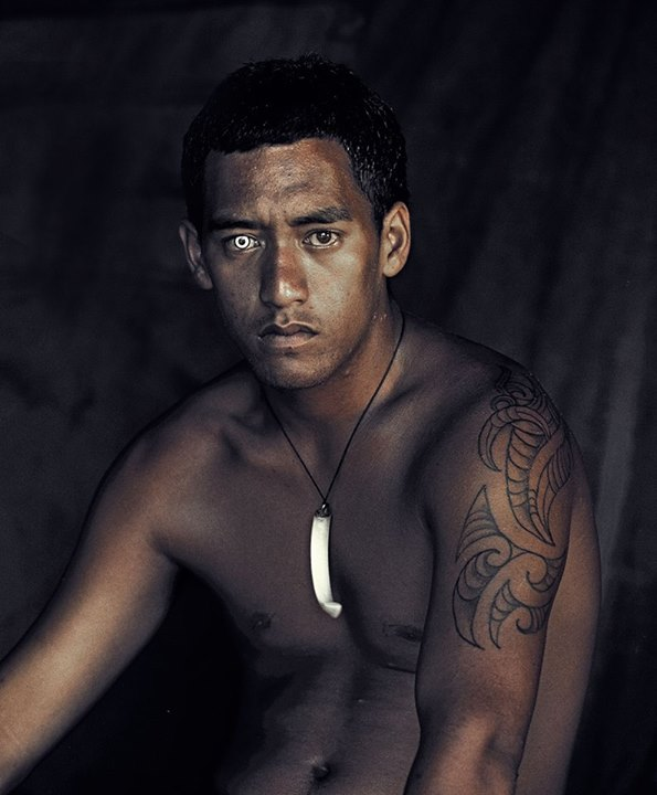The haunting young Maori face of pride, passion and pain.