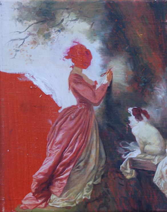 Ross-Chisholm-Souvenier-25x20cm-Olieverf-op-canvas