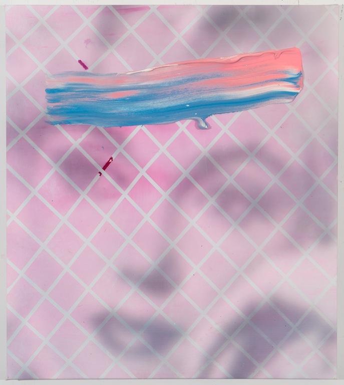 'Pink Eye' 32 x 36 acrylic and inkjet on canvas 2013