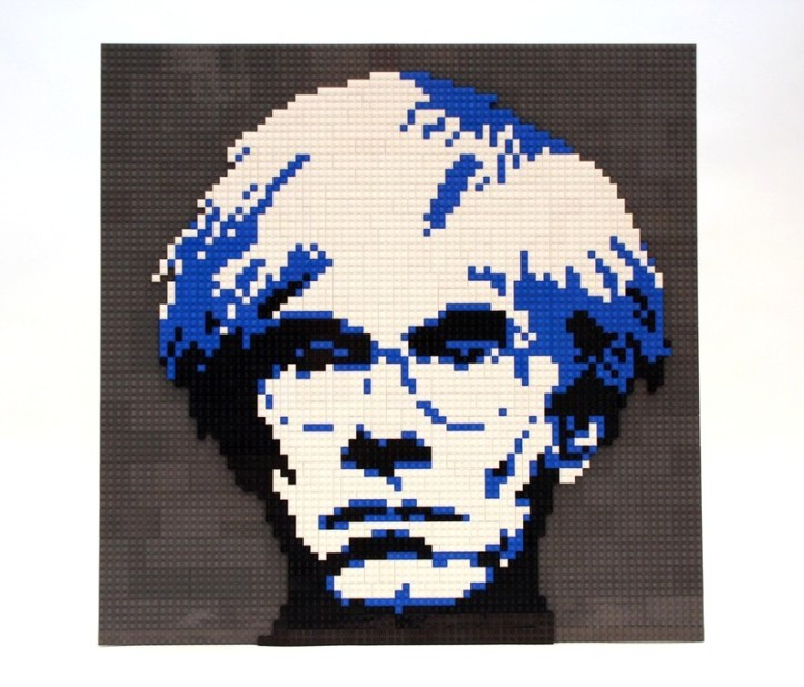 I'M IN PIECES - The World's Best Lego Artist Unveils His Latest Work Depicting Human Relationships - Pictured here, his Andy Warhol piece