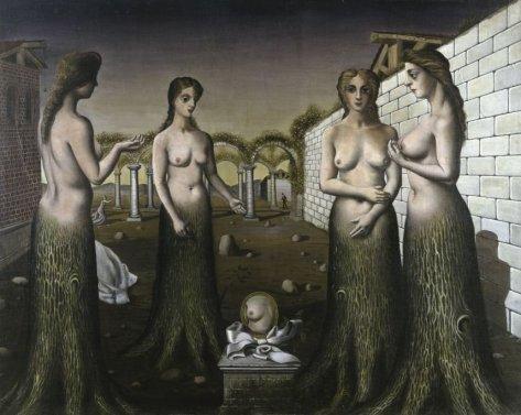 Paul Delvaux, La nscita del giorno (L'Aurora), 1937