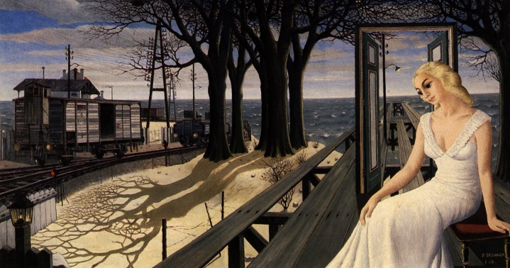 Paul Delvaux, Shadows, 1965