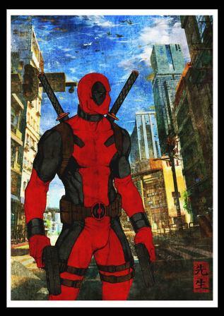 "Modern ukiyoe ""Deadpool"" print"